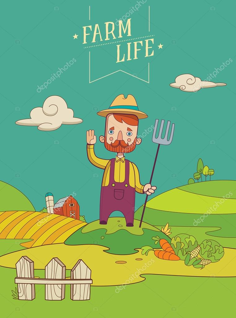 Friendly Healthy Farmer