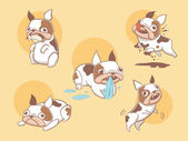 Photo Playful cute french bulldog dogs