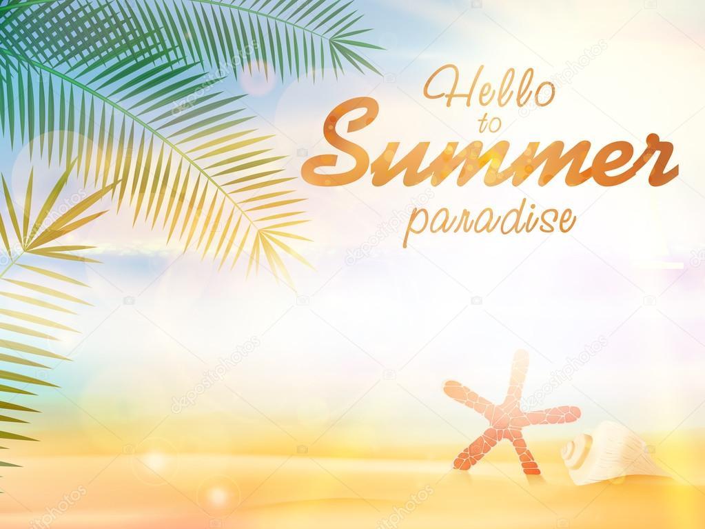 Summer calligraphic designs.