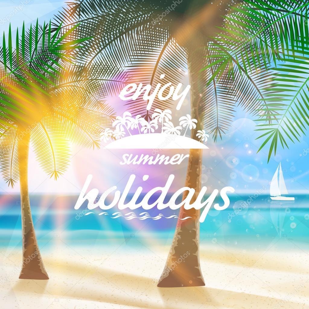 Sommer Typografie Urlaub Vorlage — Stockvektor © Glush2502 #49563443
