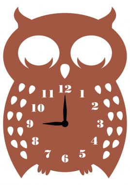 Wall clock owl