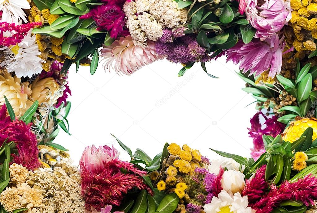 frame from flowers