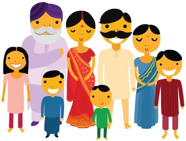 Happy Large Indian Family