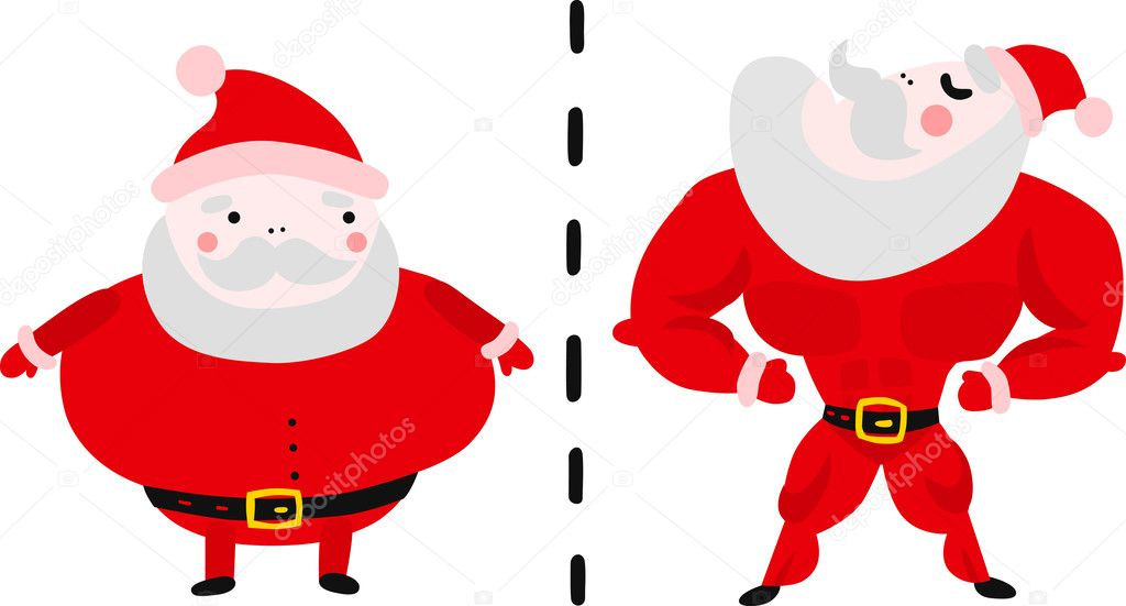 Fat and Fit Santa