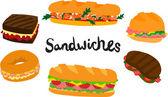Fotografie große Sandwich-Satz