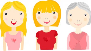 Woman at Different Ages Sequence