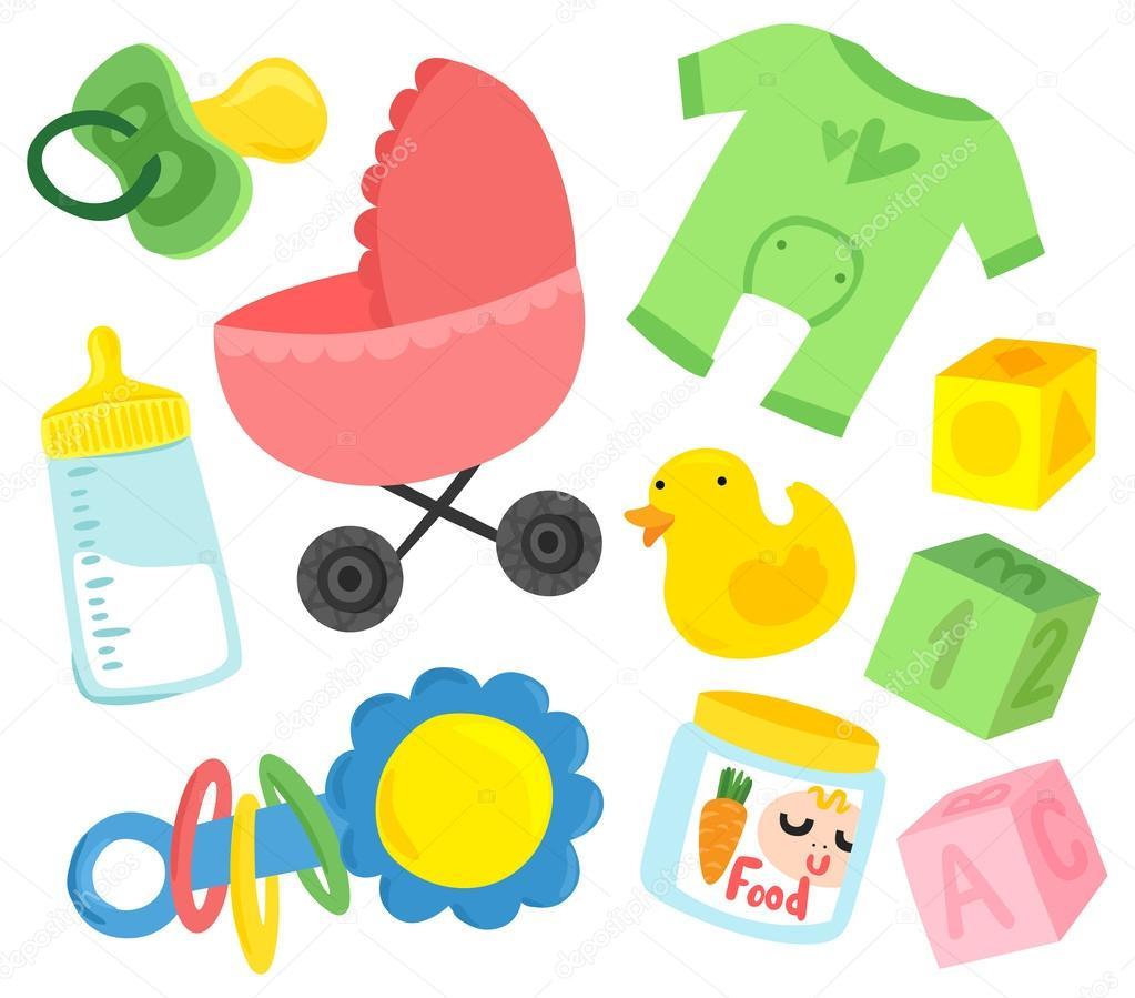 Spullen Voor Baby.Schattige Baby Spullen Set Stockvector C Lenanayashkova 50475003