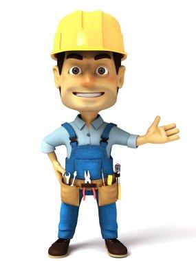 3d handyman normal pose
