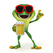 Frog  party and beer