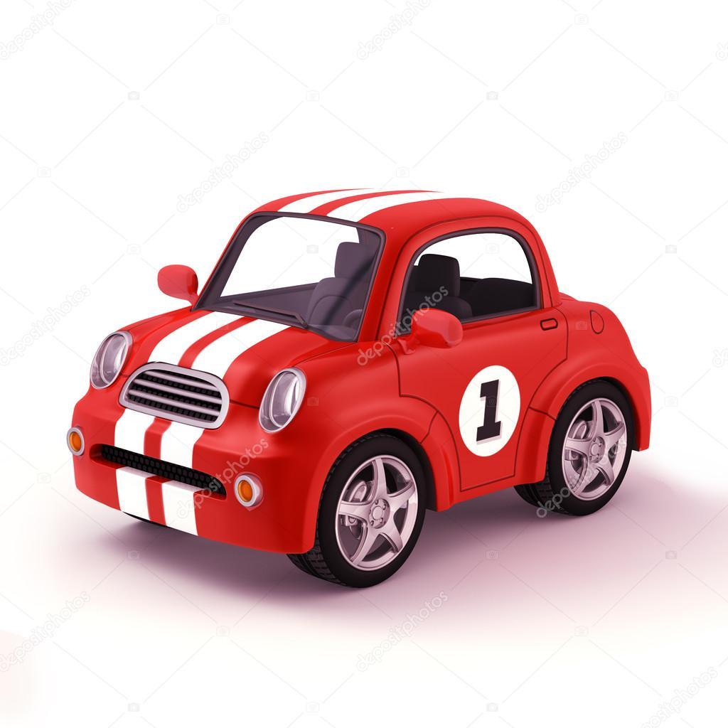voiture de course 3d illustration dessin anim image de pungkeesmongkees - Voiture De Course Dessin Anim