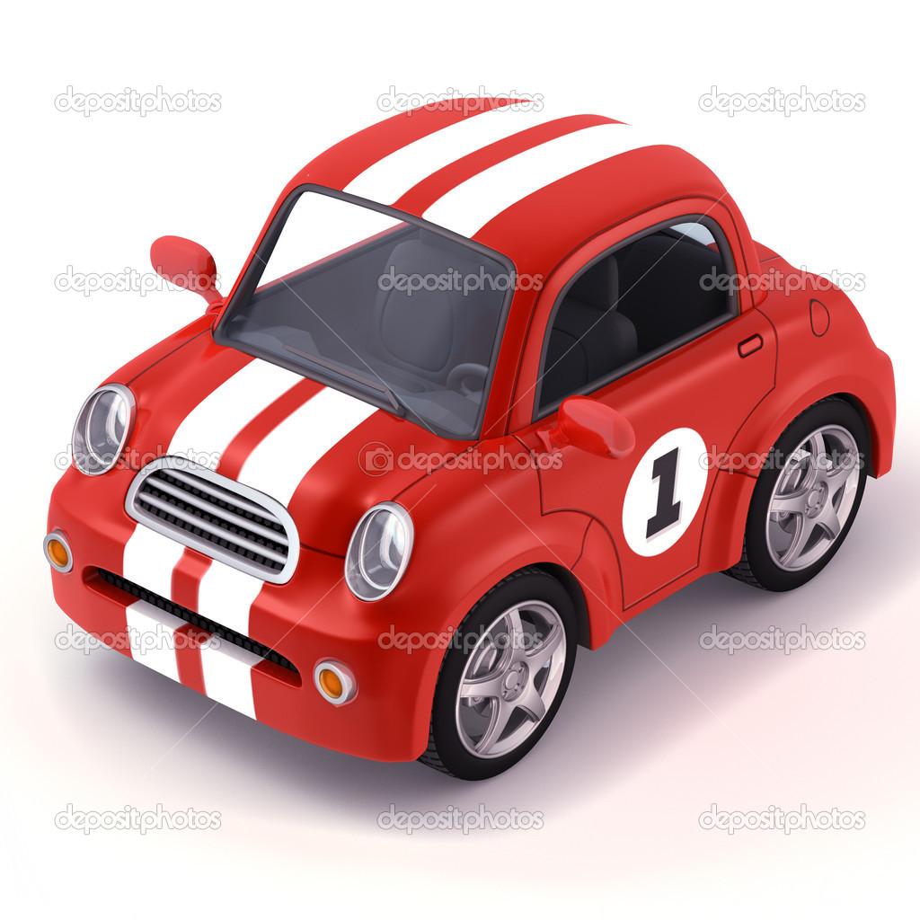 Voiture de sport rouge dessin anim photographie - Course de voiture dessin anime ...