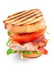 slanina, salát a rajče blt sendviče