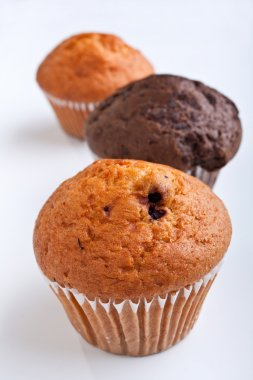 three muffins in a row