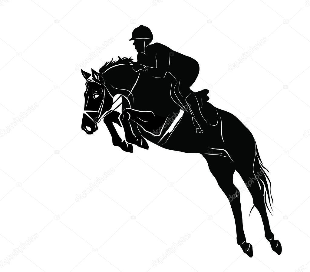 Horse Jumping Stock Vector C Callipso Art 43042129