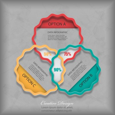 Grungy modern style infographic