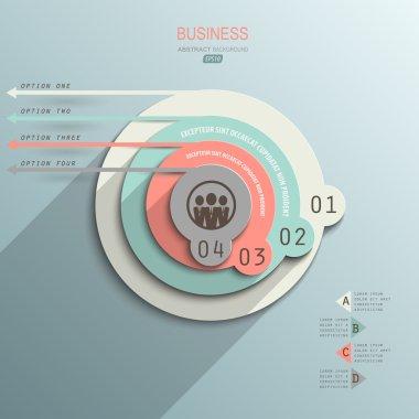 Minimalist design infographic