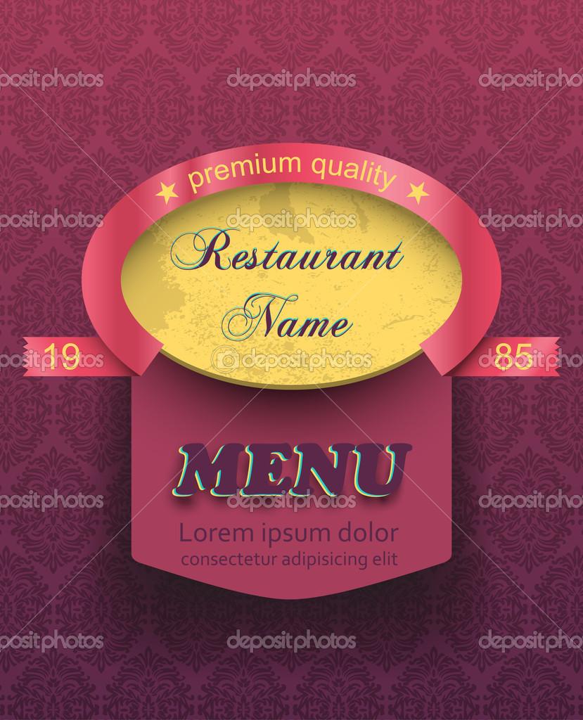 plantilla de menú etiqueta antiguo restaurante — Archivo Imágenes ...