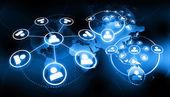 Fotografie globales Unternehmensnetzwerk