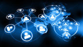 Fotografie globale Business-Netzwerk