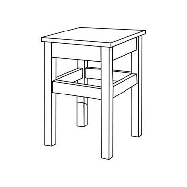 Vector kitchen chair
