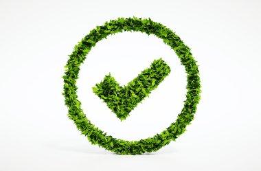 Ecology image of eco ok sign