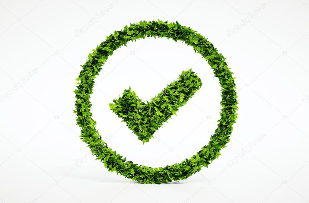Ecology image of eco ok sign