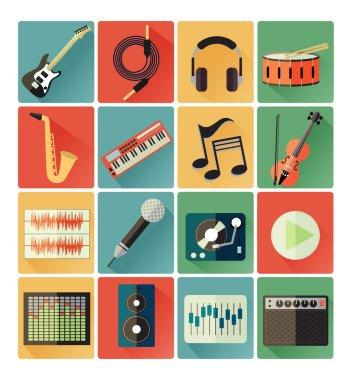 Icons music set