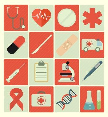 Icons medical set