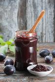 Photo Homemade plum jam