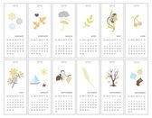 Fotografie Decorative monthly calendars