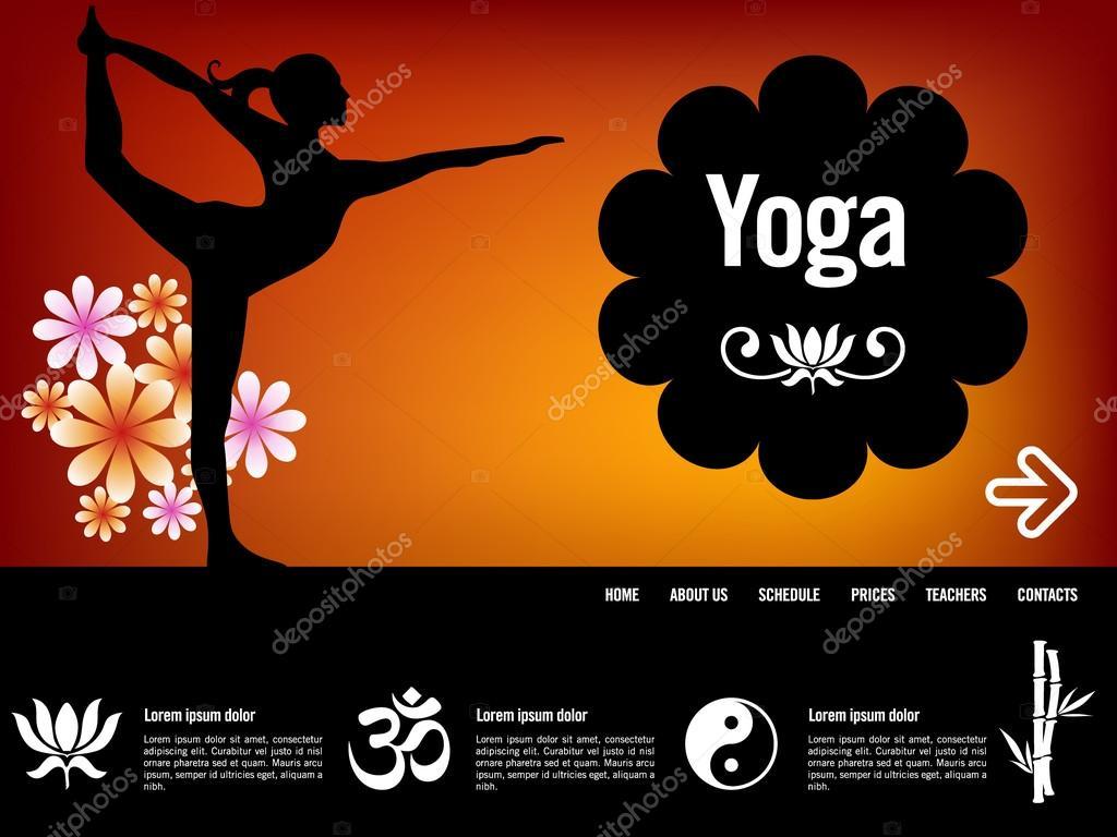 Lujo Plantillas De Sitio Web De Yoga Molde - Ejemplo De Currículum ...