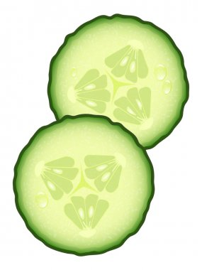 Fresh Slices of Cucumber