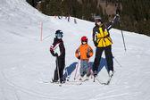Fotografie Familie auf Skitour