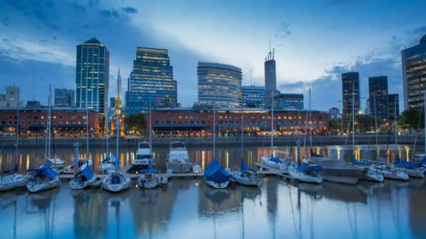 Argentina Buenos Aires Puerto Madero Time Lapse at night