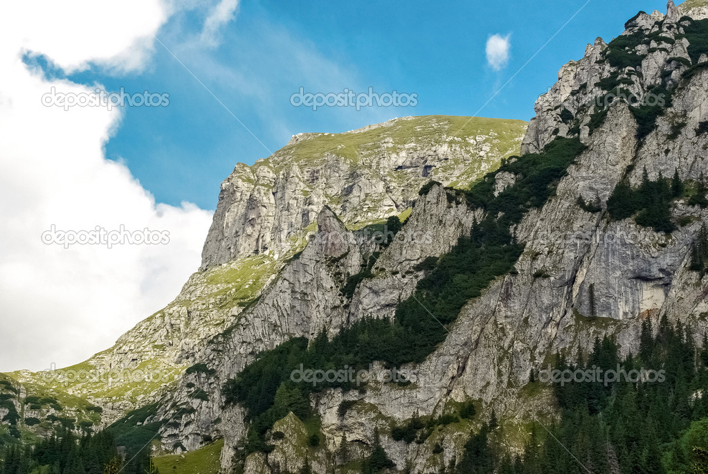 Beautiful Carpathians mountain with blues sky