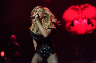 Dublin-March 1st 2014-Ellie Goulding performs live at the O2 on March 1st 2014 in Dublin,Ireland