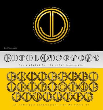 Monogram Design with letter L