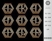 Photo Monogram Design with letter G set