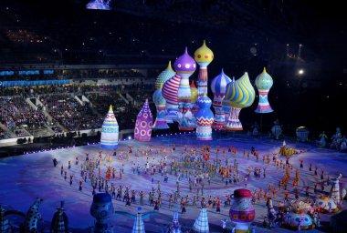 SOCHI, RUSSIA - FEBRUARY 7, 2014: festivities of Maslenitsa or P