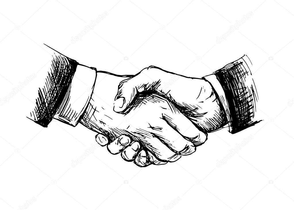 dessin serrer la main  u2014 image vectorielle onot  u00a9  42484491