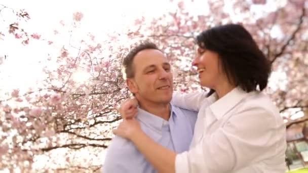 Couple enjoying spring sunshine