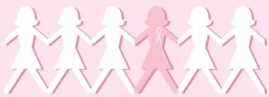Breast Cancer Awareness Pink Paper Dolls