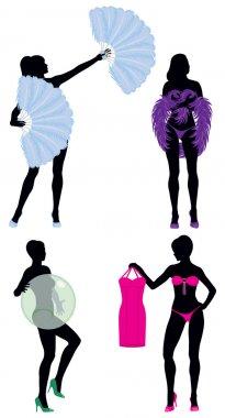 Burlesque Women Silhouettes