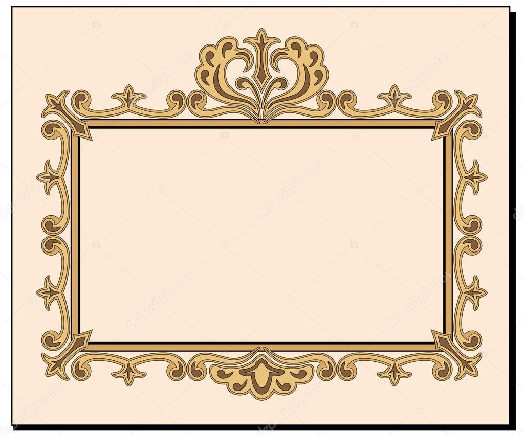 Blank Ornate Invitation Card Stock Vector C Tandaleah 42691795