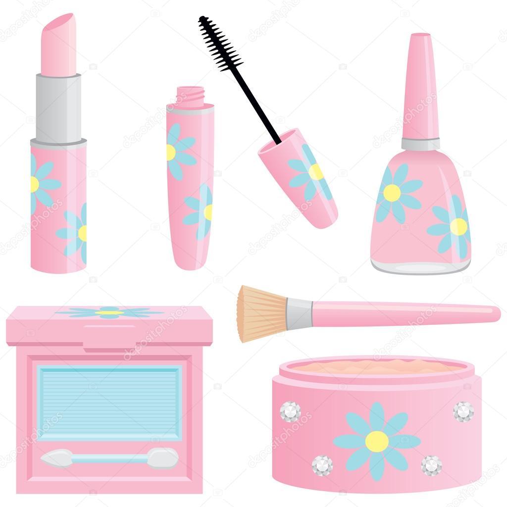 ziemlich pink Kosmetik Kollektion — Stockvektor © tandaleah #42691857