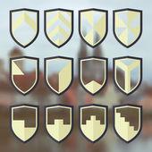Set of blank of shields 3
