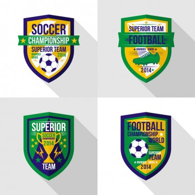 Soccer  world championship  emblem Superior team