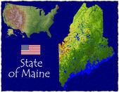 Fényképek Maine, Amerikai Egyesült Államok hi res légi Nézd