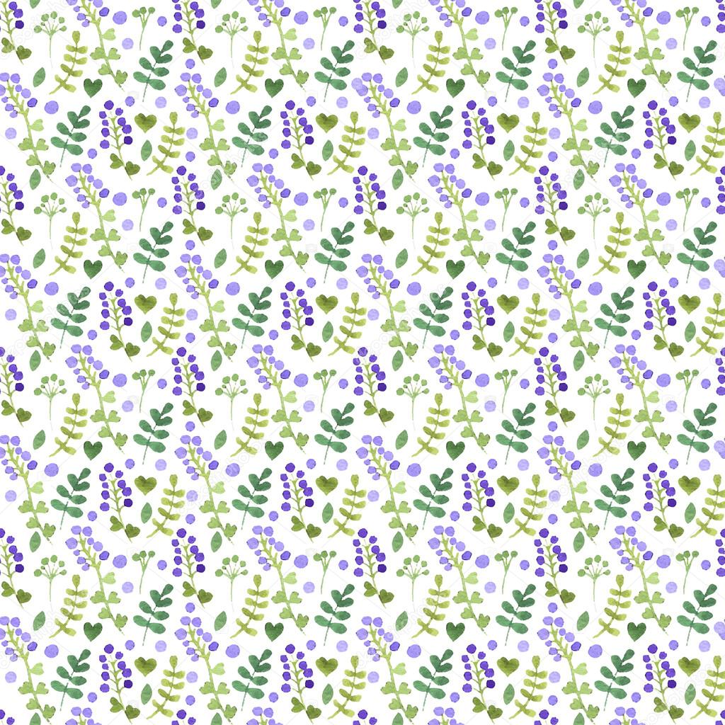 Seamless floral pattern. Watercolor Graphics. Vector.