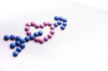 Bow & heart shape